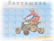 Quad Posters - Calendar for 9 2013 1910 Poster by Geri Scull
