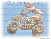 Quad Posters - Calendar for 9 2013 33 Poster by Geri Scull