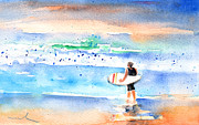 Atlantic Beaches Painting Prints - Caleta de Famara 04 Print by Miki De Goodaboom