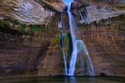 Escalante Grand Staircase Art - Calf Creek Lower Falls number two by Carolyn Rauh