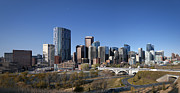 City Skylines Framed Prints Prints - Calgary 2012 Print by Tula Edmunds