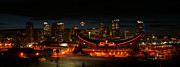 Guy Whiteley Photography Prints - Calgary At Night Print by Guy Whiteley