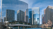 Guy Whiteley Photography Prints - Calgary Glass Print by Guy Whiteley