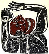 Relief Print Reliefs - Caliban by William Wolff