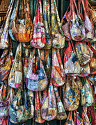 Purses Prints - Calico Bags Print by Brenda Bryant