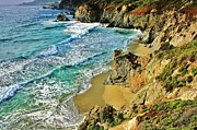 Big Sur Beach Framed Prints - Californa Shore Framed Print by Benjamin Yeager