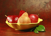 Stylized Food Posters - California Beurre Bosc Pears in Fruit Bowl Poster by Inspired Nature Photography By Shelley Myke