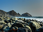 Ocean Cliff Prints - California - Big Sur 012 Print by Lance Vaughn