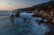 Big Sur Beach Framed Prints - California Coast Dusk Framed Print by Mike Reid