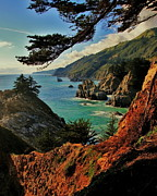 Aqua Blue Photos - California Coastline by Benjamin Yeager