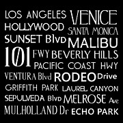 Beverly Hills Digital Art Metal Prints - California Destinations Metal Print by Jaime Friedman