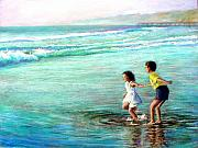 Children Pastels Prints - California Dream Print by Mary Giacomini