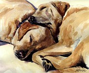 Retrievers Paintings - California Dreamers by Molly Poole