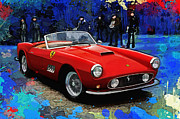 Ferrari Gto Posters - California Dreamin Poster by Alan Greene