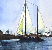 Sailboat Ocean Mixed Media Posters - California Dreamin II Poster by Kip DeVore