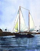 Sailboat Ocean Paintings - California Dreamin by Kip DeVore