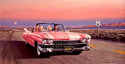 Cadillac Painting Posters - California Dreamin Poster by Michael Swanson
