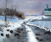 Snowscape Paintings - California Dreaming by Russell Bentley