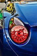 Sports Lover Prints - California Ferrari Tail Light Print by Paul Ward