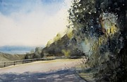 Maps Paintings - California Highway by Sandra Strohschein