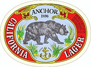 Beer Drawings Prints - California Lager Print by Pg Reproductions