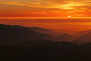 Haze Photo Framed Prints - California Mountain Sunset Framed Print by Matt Tilghman