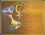 United States Travel Bureau Prints - California Print by Nomad Art And  Design