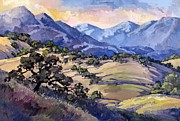 Country Western Paintings - California Oaks by Erin Hanson
