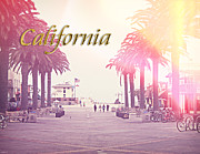 Businesses Digital Art Prints - California Print by Phil Perkins