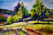 Mountain Bike Paintings - California Plein Air by Therese Fowler-Bailey