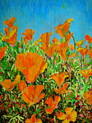 David Olson - California poppy painting