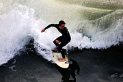 Catherine White Photo Prints - California Surfer Print by Catherine Sherman