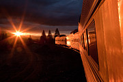 Train Posters - California Zephyr Sunset Poster by Ryan Wilkerson