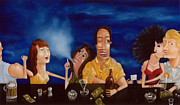Bar Scene Paintings - Call Me 1995 by Larry Preston