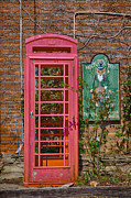 Kay Pickens Photo Framed Prints - Call Me - Abandoned Phone Booth Framed Print by Kay Pickens