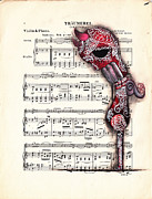 Music Paper Framed Prints - Call Up on Framed Print by  Abril Andrade Griffith