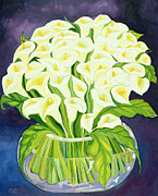 Shade Paintings - Calla Lilies by Laila Shawa