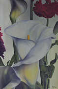Calla Lilly Painting Framed Prints - Calla Framed Print by Michael S Dooley sr