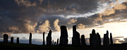 Silhouettes Framed Prints - Callanish Standing Stones Framed Print by Tim Gainey