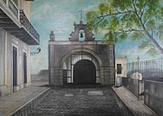 San Juan Paintings - Calle del Cristo by Maurice Dilan