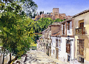 Granada Paintings - Calle Victoria Granada by Margaret Merry