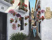 Andalucia Paintings - Calleje de las Flores Cordoba Spain by Richard Harpum