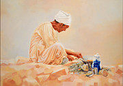 Oriental Style Paintings - Calm by Ahmed Bayomi