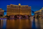 Las Vegas Pyrography Prints - Calm Bellagio Print by Zachary Cox