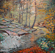 National Parks Paintings - Calm Brook VT by Monica Caballero