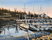 Spencer Meagher Framed Prints - Calm Harbor Framed Print by Spencer Meagher