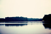 Cottage Chic Posters - Calm Lake Landscape Poster by Kim Fearheiley