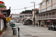 Fishery Prints - Calm Morning At Monterey Cannery Row California 5D24777 Print by Wingsdomain Art and Photography
