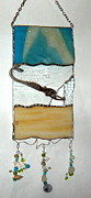 Mermaid Glass Art - Calm by Nora Solomon