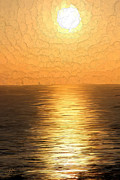 Sunrise Art - Calm Sunset at Sea by Bruce Nutting